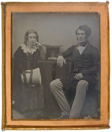 Thomas Sutcliffe Mort and his wife Theresa, c.1847 by Unknown