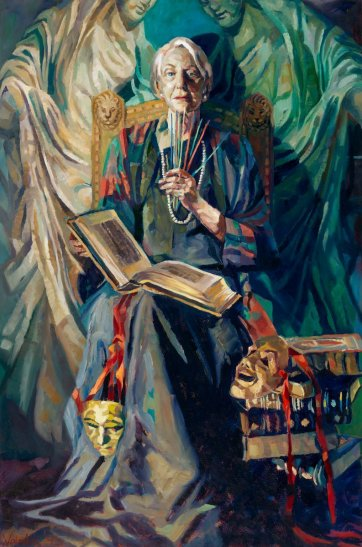 Portrait of Ruth Cracknell as the Sibyl, 1995 by Rosemary Valadon