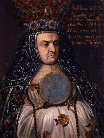 Elvira de San Jose, Mother Superior of the Convent of Santa Ines by an unknown artist