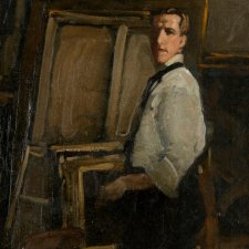 Self portrait (Full Length in front of Easel), 1901-02 by Hugh Ramsay