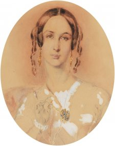 Martha Sarah Butler, c. 1845 by Thomas Griffiths Wainewright