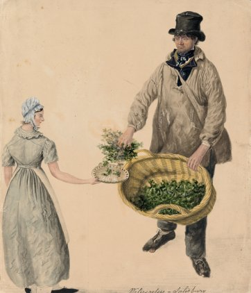 Selling watercress, Salisbury by John Dempsey