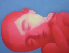 Red child, 2005 by Zhang Xiaogang