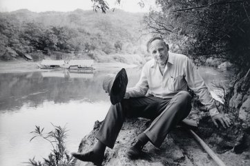 Edward 'Weary' Dunlop, River Kwai, Thailand, c.1987 (printed 2003) by Robert McFarlane