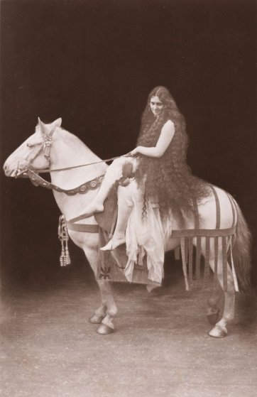 La Milo as Lady Godiva at Coventry, c.1907 by Rotary Photo Co. Ltd