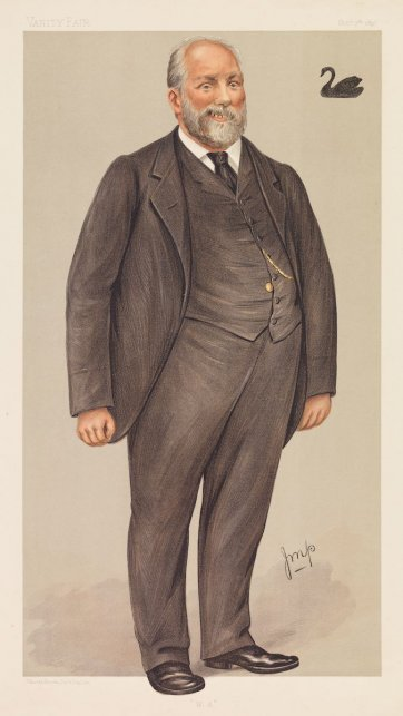 """W.A"" (Sir John Forrest) (Image plate from Vanity Fair), 1897 by Julius Mendes Price"
