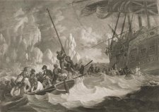 Part of the crew of His Majesty's Ship Guardian endeavouring to escape in the boats, 1790 by Robert Dodd