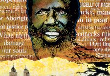 Eddie Mabo (after Mike Kelley's 'Booth's Puddle' 1985, from Plato's Cave, Rothko's Chapel, Lincoln's profile) No.3, 1996 by Gordon Bennett
