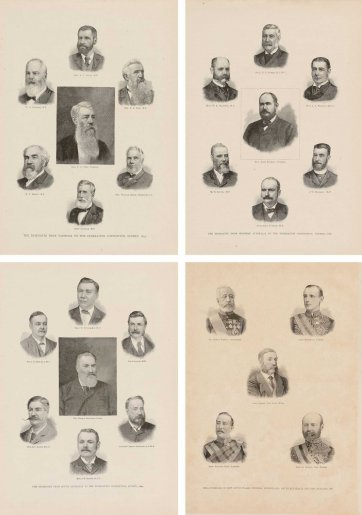 Delegates to the Constitutional Convention, Sydney 1891 from Australasia Illustrated, 1891 by Unknown