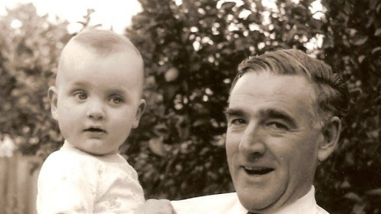 Angus and the late Peter C. Trumble, 1965, still then a firm advocate of the detachable collar.