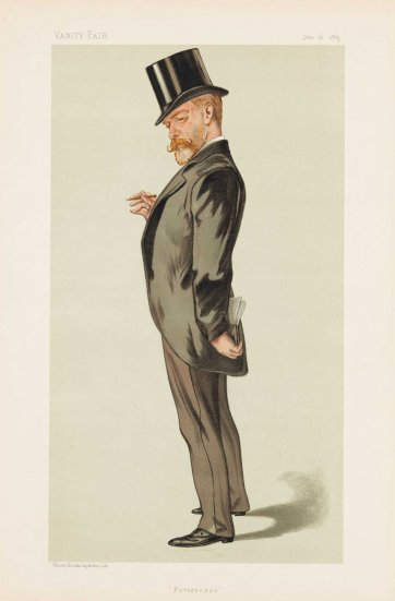 """Fetteresso"" Sir Robert Duff  (Image plate from Vanity Fair), 1883 by Francois Verheyden"