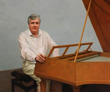 The fortepianist - portrait of Dr Geoffrey Lancaster, 2011 by Jude Rae