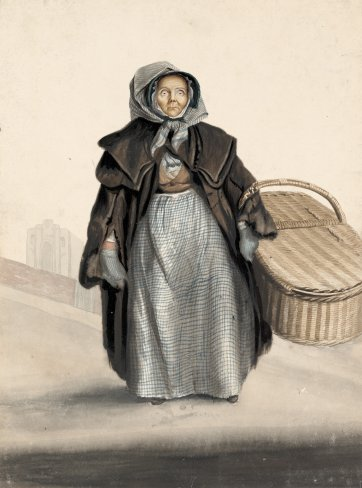 Mary (or Elizabeth) Leagrove, attendant at the gaol, Ipswich, c. 1823 by John Dempsey