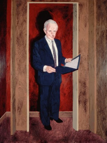 Senator John Button, 1987 by Andrew Sibley