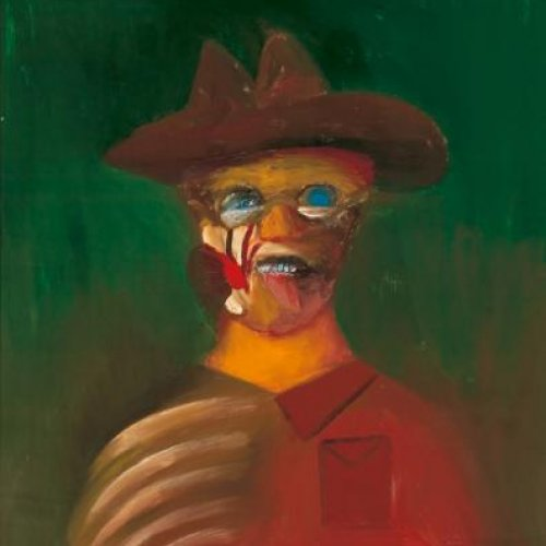 Portrait of Ern Malley by Sidney Nolan (1973) Art Gallery of South Australia, Adelaide. Gift of Sidney and Cynthia Nolan, 1974