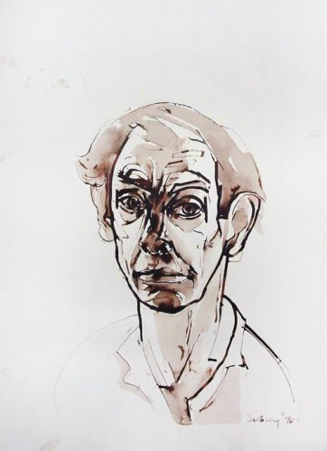 Self portrait, 1990 by Andrew Sibley