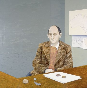 Professor John Mulvaney, 1984 by Janenne Eaton