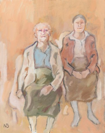 Double Portrait: Vida and Marie Breckenridge (study), 1999 by Nancy Borlase