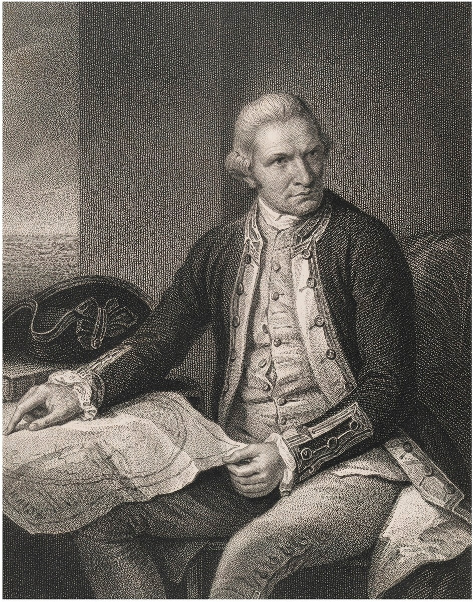 Captain james cook from the original in the naval gallery captain james cook from the original in the naval gallery greenwich hospital sciox Images