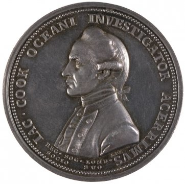 The Royal Society medal in commemoration of Captain James Cook, 1784 by Lewis Pingo