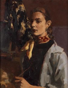 Self portrait, c. 1952 by Janet Dawson