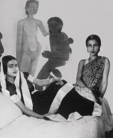 Sisters with 'two girls', 2001 From the series Re-take of Amrita