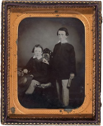 Horace Spencer Wills and Cedric Spencer Wills, c.1859 by Unknown