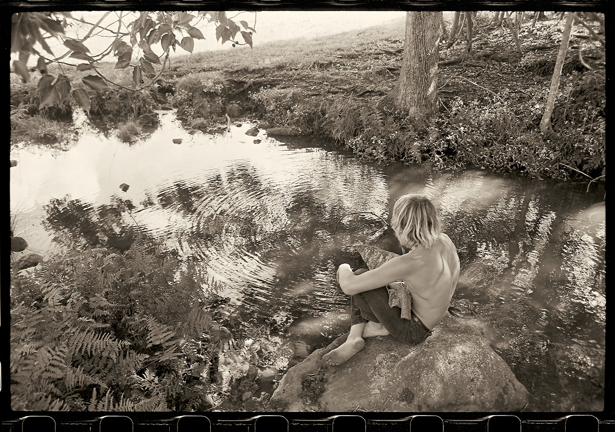 Wayne Lynch at Possum Creek, 1969 by John Witzig