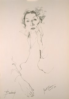 Dame Judith Anderson, 1962 by Don Bachardy