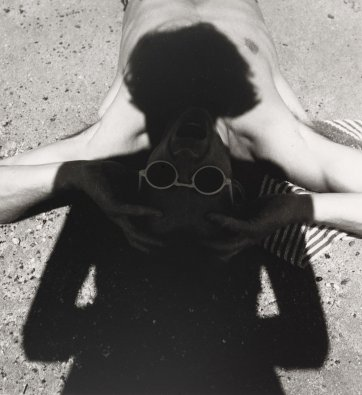 The photographer's shadow (Olive Cotton and Max Dupain), c. 1935 (printed 1999) by Olive Cotton