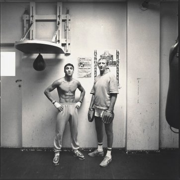 Jeff Fenech and trainer, John Lewis, 1986 by Graham McCarter