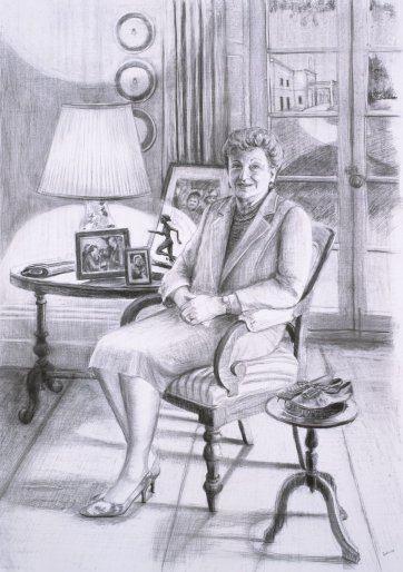 Preparatory study for Her Excellency Marjorie Jackson-Nelson AC CVO MBE, 2005 by Avril Thomas