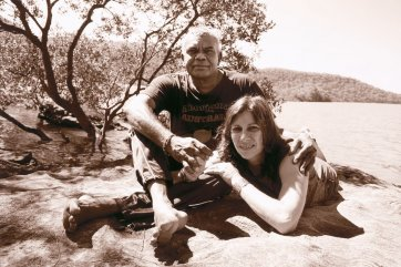 Ali Cobby Eckermann and Lionel Fogarty at the Hawkesbury River, 2014 by Juno Gemes