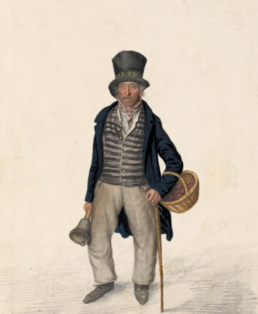 Richard 'Dickey' Fletcher, bellman, Bridlington, c. 1825 by John Dempsey