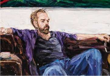 Hugo at home (Hugo Weaving), 2011 by Nicholas Harding