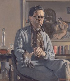Self portrait with glove, 1939 by Herbert Badham