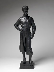 Self portrait in plus fours, c. 1939 (cast 2003) by Lyndon Dadswell