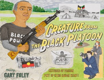 Creature from the Black Platoon starring Gary Foley 2011, 2011 by TextaQueen