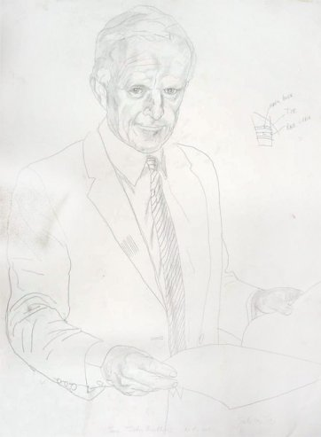 Study for portrait of Senator John Button, 1992 by Andrew Sibley