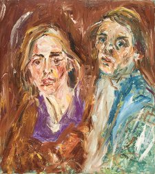 Double portrait (the artist and his wife), c.1970 by Matthew Perceval