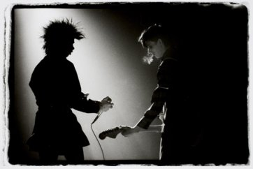 Nick Cave and Rowland S. Howard (of The Birthday Party), 1983 by Bleddyn Butcher