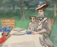 Tea time, c.1898–1902 by Rupert Bunny (1864–1947)
