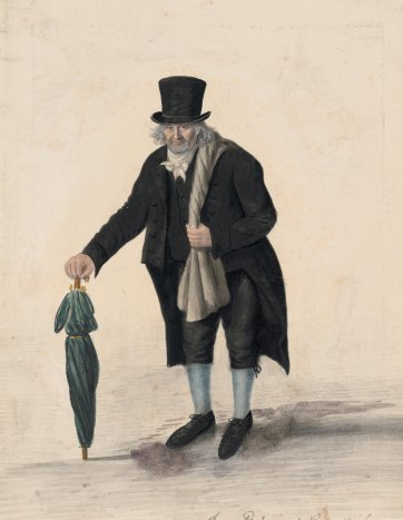 Samuel Hevens, Jewish old clothes man, Greenwich, 1824 by John Dempsey