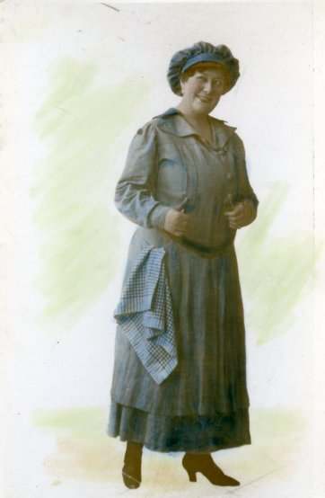 Florrie Forde (in blue dress), c.1918 by Unknown