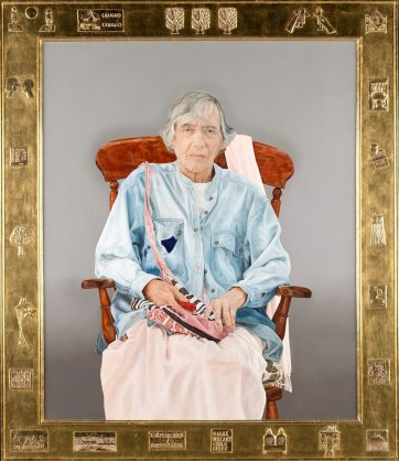 Portrait of Elizabeth Jolley, 2003 by Mary Moore