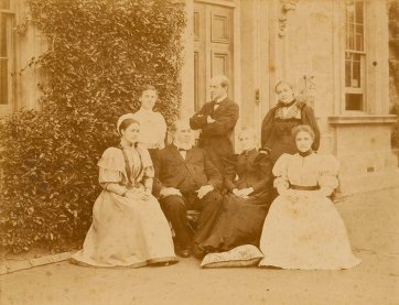 Henry Chamberlain Russell and family at Sydney Observatory, c.1895 Charles Bayliss