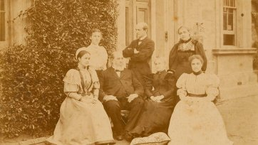 Henry Chamberlain Russell and family at Sydney Observatory, c. 1895 Charles Bayliss