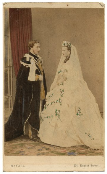 Albert Edward, Prince of Wales and Princess Alexandra on their wedding day