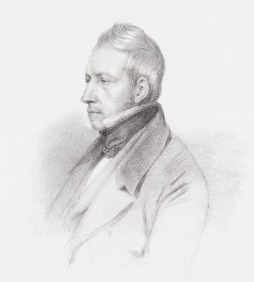 Robert Brown, c.1835 by Dario Castellini after Carlo Liverati