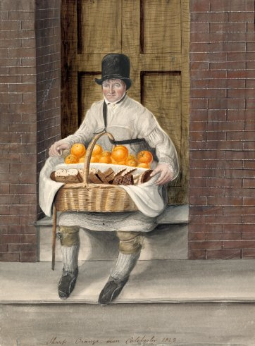Sharp, orange man, Colchester, 1823 by John Dempsey